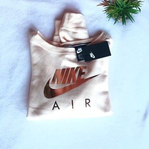 Nike air zipper back crop crew neck sweatshirt